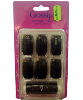 Gossip Black Weaving Clips With Thread 36Pcs