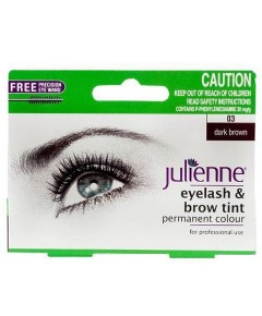 Julienne Eyelash And Brow Tint Dark Brown
