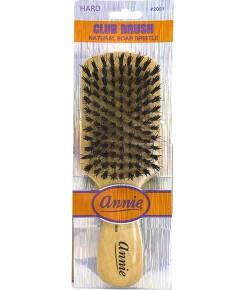 Annie Natural Boar Bristle Hard Club Brush 2061