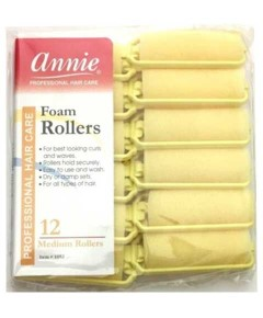 Annie Foam Rollers Yellow