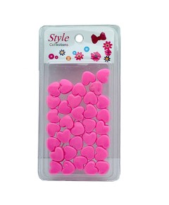 Style Collection Heart Shape Hair Beads BD003 Pink