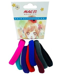 Magic Quality Hair Elastic Bands Assorted TP15B