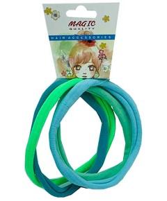 Magic Quality Hair Elastic Bands Green LT15GRE