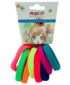 Magic Quality Hair Elastic Bands Assorted TP15C