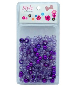 Style Collection Hair Beads BD008 Purple
