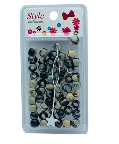 Style Collection Pattern Beads BD012 Black And Beige