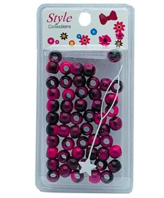Style Collection Pattern Beads BD012 Black And Pink