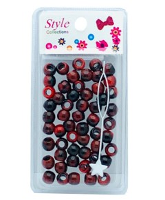 Style Collection Pattern Beads BD012 Black And Red