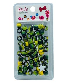 Style Collection Pattern Beads BD012 Black And Yellow