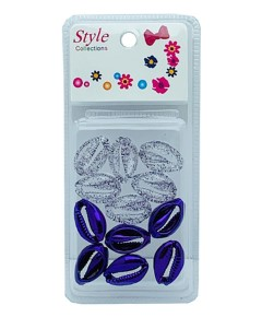 Style Collection 2 Tone Shell Beads BD015 Purple