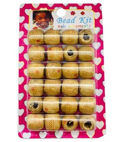 Wooden Bead Kit Hair Ornaments B200W8