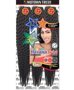 Motown Tress Syn CHT Mega 12 Cuban Twist Braid