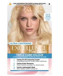 Excellence Pure Blonde 02 Ultra  Golden Blonde Hair Colour
