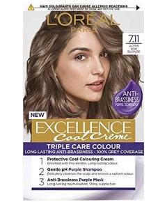 Excellence Cool Creme Triple Care Color 7.11 Ultra Ash Blonde
