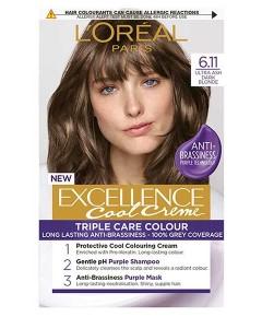 Excellence Cool Creme Triple Care Color 6.11 Ultra Ash Dark Blonde