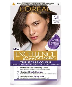 Excellence Cool Creme Triple Care Color 5.11 Ultra Ash Light Brown