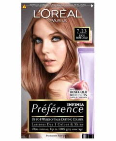 Preference Infinia Permanent Colour 7.23 Rich Rose Gold