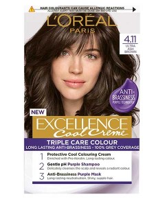 Excellence Cool Creme Triple Care Color 4.11 Ultra Ash Brown