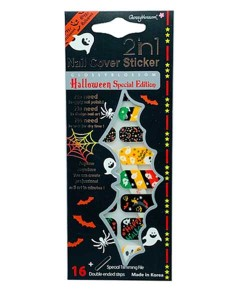 Glossy Blossom 2 In 1 Nail Cover Halloween Sticker