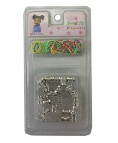 Hair Accessories Metal Bead Kit BD004 Silver