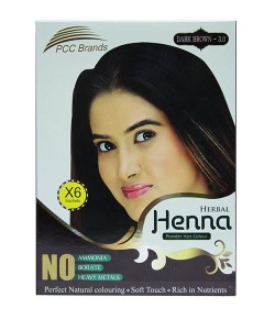 PCC Brands Dark Brown Herbal Henna Powder Hair Colour