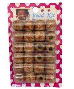 Wooden Bead Kit Hair Ornaments B200W4