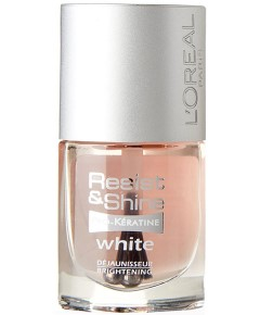 Resist And Shine Pro Keratin White Nail Varnish
