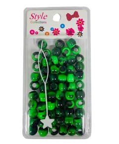 Style Collection Pattern Beads BD012 Black And Green
